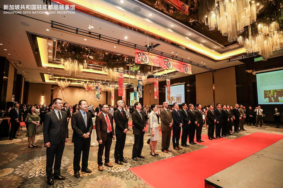 我会受邀出席新加坡55周年国庆暨中新建交30周年招待会